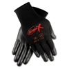 MCR Safety Ninja X Bi-Polymer Coated Gloves, Large, Bla