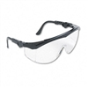 Crews Tomahawk Wraparound Safety Glasses, Black Nylon F
