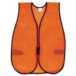 MCR Safety Orange Safety Vest, Polyester Mesh, Hook Clo