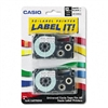 Casio Tape Cassettes for KL Label Makers, 12mm x 26ft,