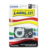 Casio Tape Cassette for KL Label Makers, 3/4in x 26ft,