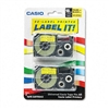 Casio Tape Cassettes for KL Label Makers, 18mm x 26ft,