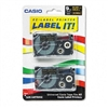 Casio Tape Cassettes for KL Label Makers, 9mm x 26ft, G
