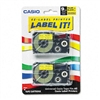 Casio Tape Cassettes for KL Label Makers, 9mm x 26ft, B