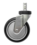 5 Mega-Caster, Gray - Clean Wheel System, # CSTR88G