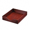 Carver Hardwood Letter Stackable Desk Tray, Mahogany #