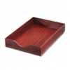 Carver Hardwood Legal Stackable Desk Tray, Mahogany # C