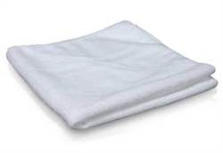 Microfiber Cleaning Cloths, White, 10x10, Pack of 50, CWHT-8