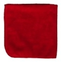 Microfiber Cleaning Cloths, Red, 12x12, Pack of 12 (.35 EA)
