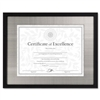 DAX Contemporary Wood Document/Certificate Frame, Silve