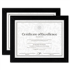 DAX Document/Certificate Frames, Wood, 8-1/2 x 11, Blac