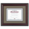DAX World Class Document Frame w/Certificate, Walnut, 1