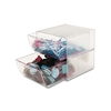 deflect-o Two-Drawer Cube Organizer, Clear Plastic, 6 x