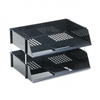 deflect-o Industrial Stacking Tray Set, Two-Tier, Plast
