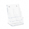 deflect-o Three-Tier Plastic Desktop Leaflet Display Ra