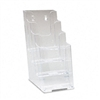 deflect-o Four-Tier Plastic Desktop Leaflet Display Rac