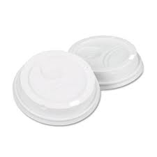 Dixie® Dome Drink-Thru Lids, Fits 10, 12 & 16 oz. Paper Hot Cups, White, 500/Carton # DXE9542500DXPK