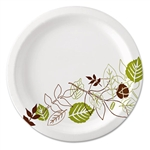 "Dixie Ultralux Pathways Paper Plates, 8.5"", WiseSize, Green/Burgundy, 500/Carton # DXEUX9WS"