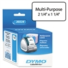 DYMO Address Labels, 1-1/4 x 2-1/4, White, 1000/Roll #