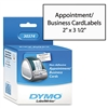 DYMO Business/Appointment Cards for Label Printers, 2 x