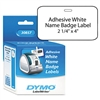 DYMO Self-Adhesive Name Badge Labels, 4 x 2-1/4, White,
