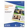Epson Photo-Quality Inkjet Paper, Matte White, 4.9 mil,