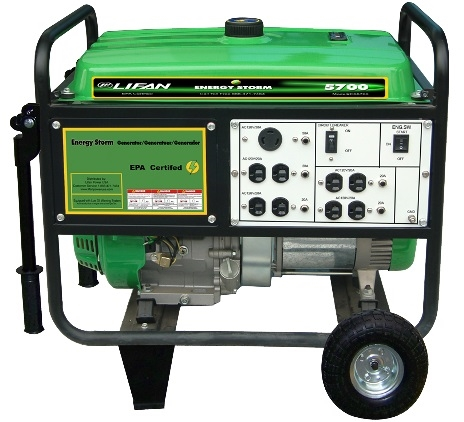 Energy Storm 5,500-Watt 389cc 13 MHP Gasoline Powered Portable Generator