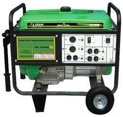 Lifan Energy Storm 8,100/7,500-Watt Gasoline Powered Electric Start Portable Generator, ES8100E