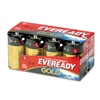 Eveready Gold Alkaline Batteries, D, 8 Batteries/Pack #