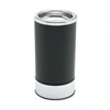 Ex-Cell Round Sand Urn w/Removable Tray, Black/Chrome #