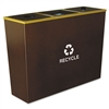 Ex-Cell Metro Collection Recycling Receptacle, Triple S