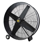 "BE Pressure FD48B - 48"" Belt Drive Drum Fan 4 Blade 1120 Watt 2 Speed, FD48B"