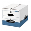 Bankers Box Storage Box, Legal/Letter, Tie Closure, Whi