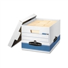 Bankers Box Quick/Stor Lock Lid File Box, Ltr/Lgl, 12 x