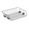Fellowes Side Load Letter Desk Tray, Wire, Black # FEL6