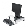 Fellowes Monitor Riser, Height/Tilt Adjustable, Storage
