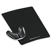 Fellowes Gel Gliding Palm Support w/Mouse Pad, Black #