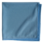 Smooth Microfiber Glass Cleaning Cloths, Blue, 16x16, Pack of 12 (.74 EA)