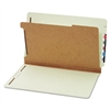 Globe-Weis Pressboard End Tab Classification Folders, 4