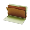 Globe-Weis Pressboard End Tab Classification Folders, 6