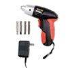 Great Neck 4.8V Cordless Screwdriver, 4 Bits, 200RPM #