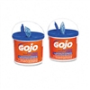 gojo hand wipes, hand cleaning, cleaning white towels, towel wipes
