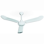 "TPI Corp Heavy-Duty Down Draft Water and Dust Resistant 56"" Ceiling Fan - White, HDHR-56WR"