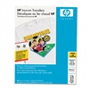 HP Iron-On Transfers for White/Light-Color Fabrics, 8-1