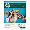 HP Inkjet Brochure Paper, Letter, Bright White, 150 She
