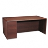 HON 10700 Series Desk, Full-Height Left Pedestal, 72w x