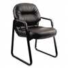 HON Leather 2090 Pillow-Soft Series Guest Arm Chair, Bl