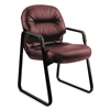 HON Leather 2090 Pillow-Soft Series Guest Arm Chair, Bu