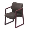 HON 2400 Series Guest Arm Chair, Mahogany Finish, Gray