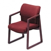 HON 2400 Series Guest Arm Chair, Mahogany Finish, Burgu